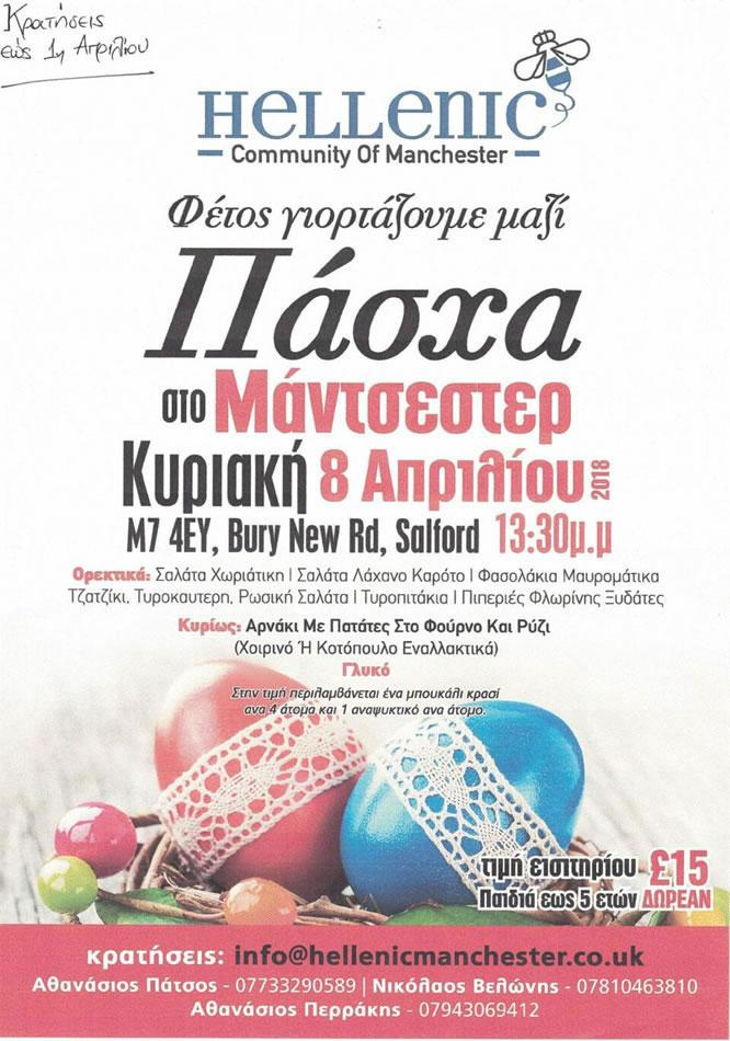 Greek Easter Feast Sunday 08 April 2018