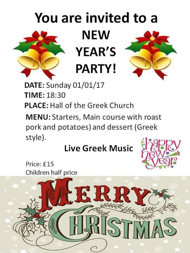 New year's party Sunday 01 January 18.30